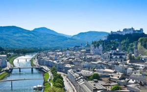 Blick auf Stadt Salzburg