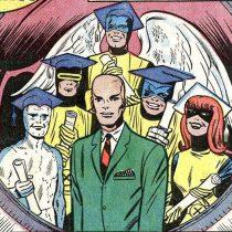 Professor X mit seinen Studenten
