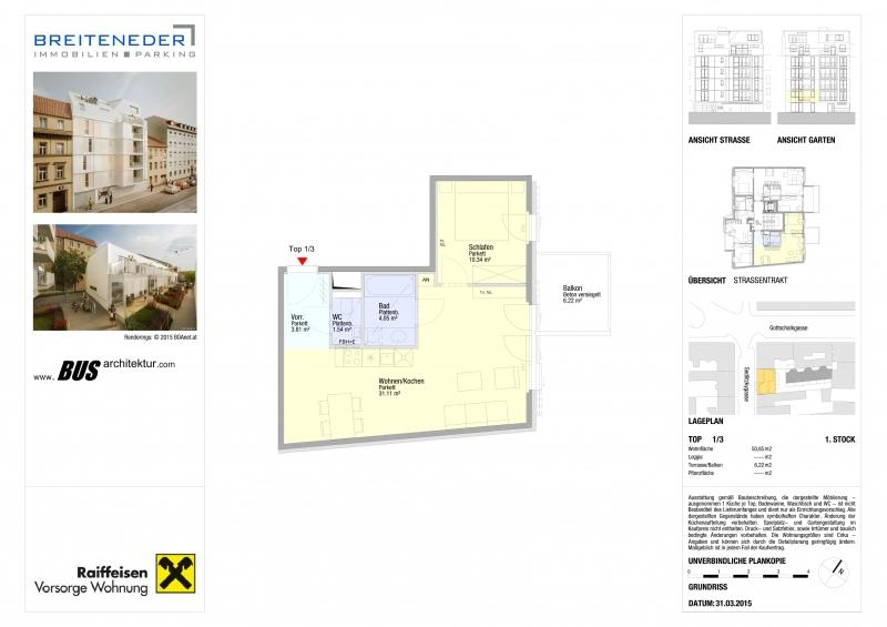 Ruhige hofseite 2-Zimmerwohnung  - Top 3