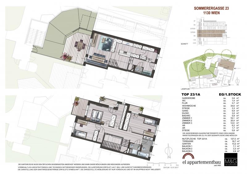 Stylische 3 Zimmer Maisonette mit Garten in perfekter Lage!