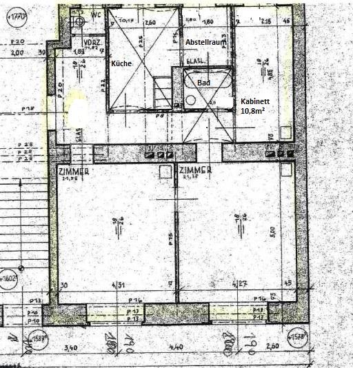 ERSTBEZUG, 3-Zimmer Altbauwohnung, getrennt begehbar, LIFT, ruhig, verkehrsberuhigte Seitenstr., unbefr.