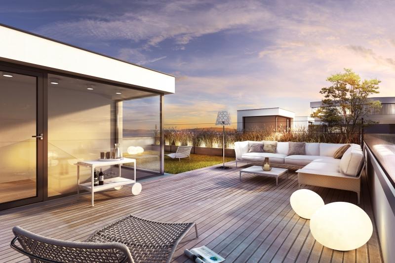 Erstbezug | 3 Zimmerwohnung mit Provisionsfreier 360° Dachterrassentraum