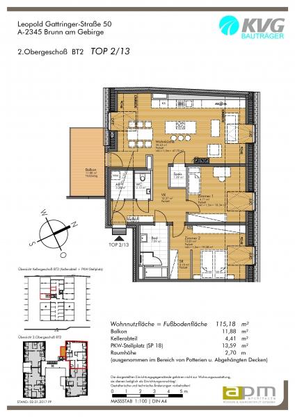 gbild -- Großzügige Dachgeschoß-Wohnung im Zentrum von Brunn am Gebirge /  / 2345Brunn am Gebirge / Bild 4