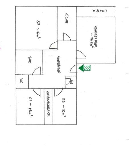 Grünruhelage+Hell + Mitbenützung großer toller Garten, 4 Zimmer + Loggia, ca. 100m, 2ter & letzter Stock /  / 1190Döbling / Bild 7
