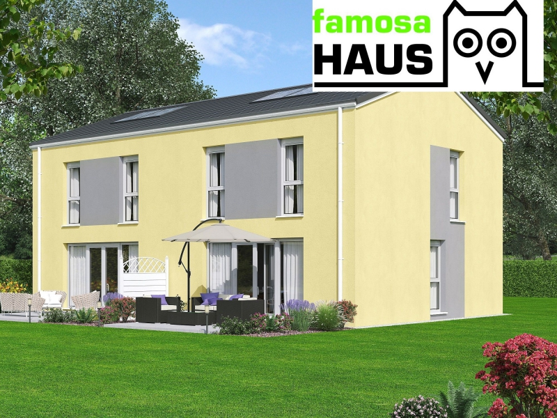 Niedrigenergie - Doppelhaushälfte, vollunterkellert mit Gartenoase (Eigengrund) und 2 Parkplätzen.