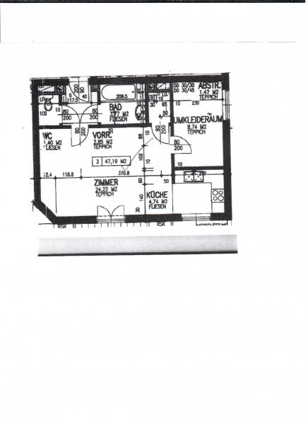 AN DER AU! sonnige 47 m2 Neubau mit ca. 30 m2 Terrasse/Eigengarten2 Zimmer, Kochnische; Wannenbad; Parketten, inkl. Tiefgaragenstellplatz , /  / 1230Wien / Bild 3