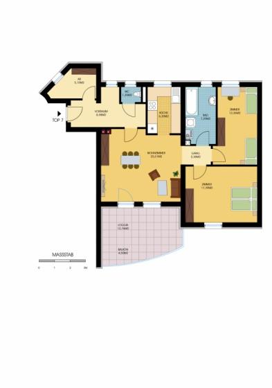 Helle 3-Zimmer-Wohnung mit Loggia gef. /  / 7503Kleinpetersdorf / Bild 1