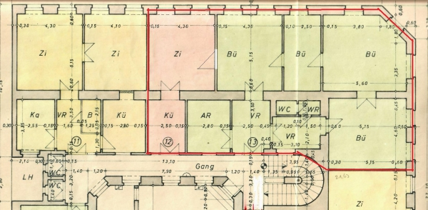 145 m² Bürofläche unsaniert