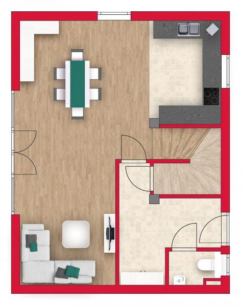 Geräumige Doppelhaushälfte, vollunterkellert mit Sonnengarten (Eigengrund) und 2 Parkplätzen. /  / 2540Bad Vöslau / Bild 3