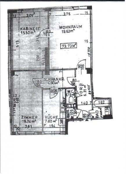 TREUSTRASSE, sonnige 74 m2 Neubau, 2 Zimmer, Wohnküche, Wannenbad,  /  / 1200Wien / Bild 1