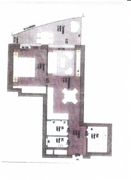 ERSTBEZUG! DIREKT AM GRÜNEN PRATER,  sonnige 48 m2 Neubau mit 12 m2 Terrasse, 2 Zimmer, Komplettküche, Wannenbad, Parketten, /  / 1020Wien / Bild 3