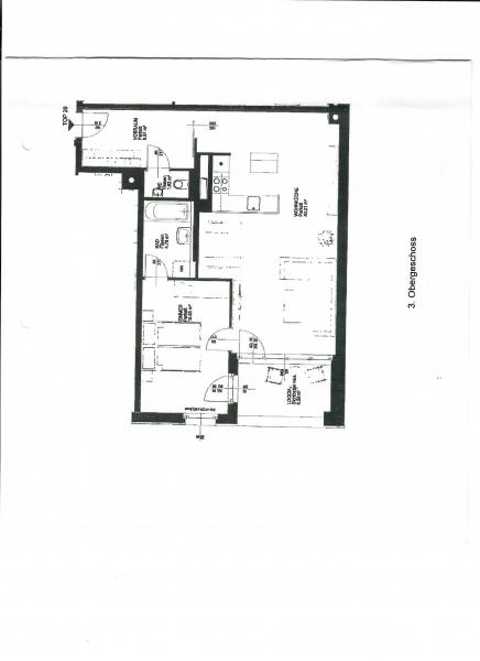 gbild -- FAVORITENSTRASSE! U1-KEPLERPLATZ-NÄHE! SONNIGE 77 m2 NEUBAU MIT 7 m2 LOGGIA, 2 Zimmer, Kochnische, Wannenbad, Parketten; Ruhelage /  / 1100Wien / Bild 1