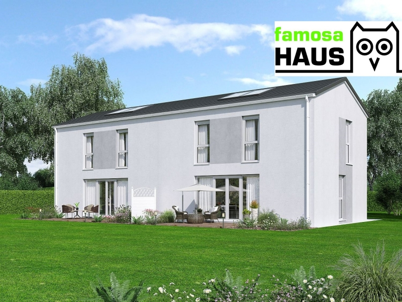 Wohnbaugeförderte Doppelhaushälfte, vollunterkellert mit Grundstück und 2 Parkplätzen. Provisionsfrei!
