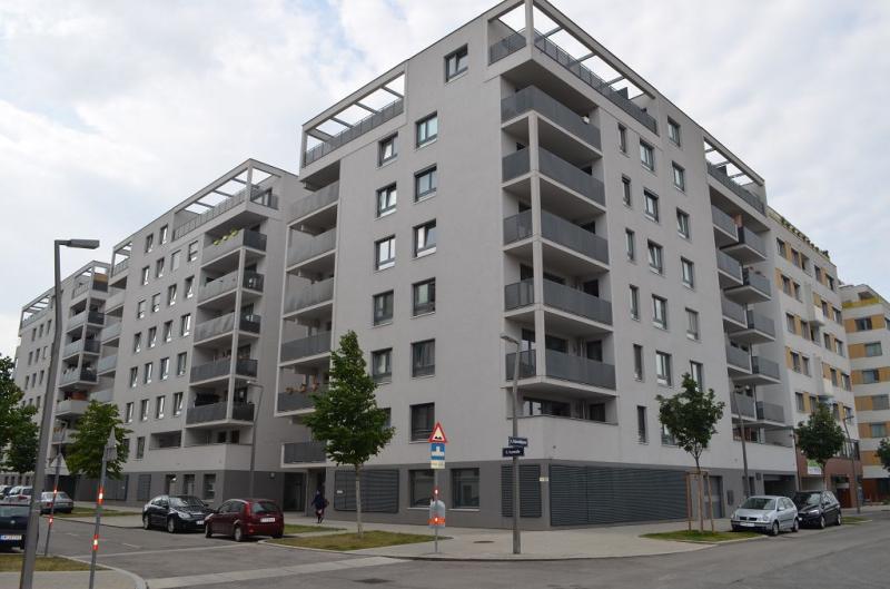 jpgcnt ---- LEYSTRASSE; sonnige 61 m2 Neubau mit 6 m2 Balkon, 2 Zimmer, Komplettküche; Wannenbad, Parketten; Garagenplatz /  / 1020Wien / Bild 2