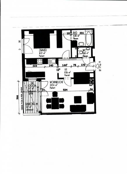 jpgcnt ---- LEYSTRASSE; sonnige 61 m2 Neubau mit 6 m2 Balkon, 2 Zimmer, Komplettküche; Wannenbad, Parketten; Garagenplatz /  / 1020Wien / Bild 3