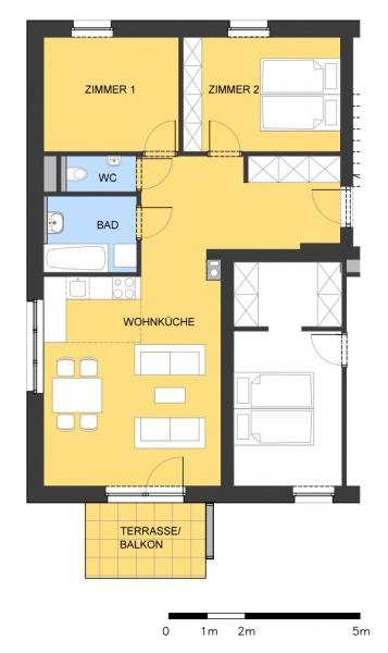 Stilvolle, provisionsfreie 3-Zimmer-Wohnung mit Balkon /  / 2412Wolfsthal / Bild 2