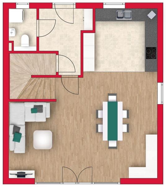 Ziegelmassives Einfamilienhaus mit Vollunterkellerung, Gartenoase (Eigengrund) und Parkplatz. Provisionsfrei.  /  / 2100Korneuburg / Bild 3