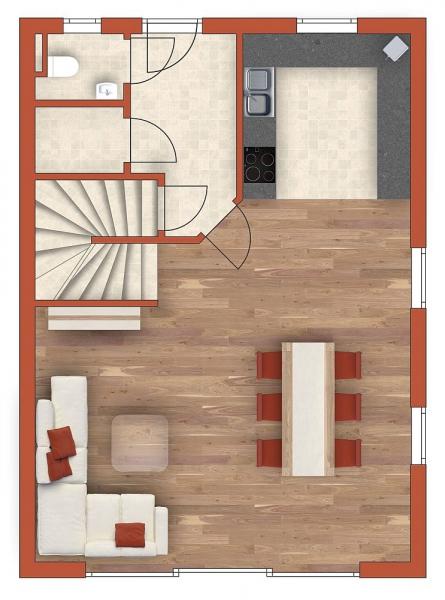 gbild -- Sonnige Doppelhaushälfte mit Vollunterkellerung und Grundstück samt Parkplatz. Provisionsfrei.  /  / 2100Korneuburg / Bild 3