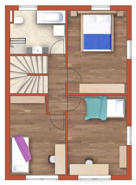 gbild -- Sonnige Doppelhaushälfte mit Vollunterkellerung und Grundstück samt Parkplatz. Provisionsfrei.  /  / 2100Korneuburg / Bild 4