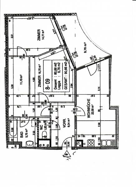 KORNHÄUSELGASSE! SONNIGE 91 m2 NEUBAU INKL. 10 m2 LOGGIA,3 Zimmer, Komplettküche, Wannenbad, Parketten;   /  / 1200Wien / Bild 3