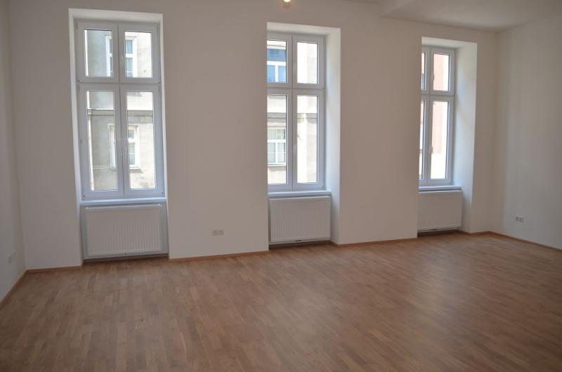 gbild -- ERSTBEZUG! REMBRANDTSTRASSE! Donaukanal-Nähe, 130 m2 Altbau, 3 Zimmer, 3er-WG-geeignet, Wohnküche, 2 Bäder, Parketten, Ruhelage /  / 1020Wien / Bild 1
