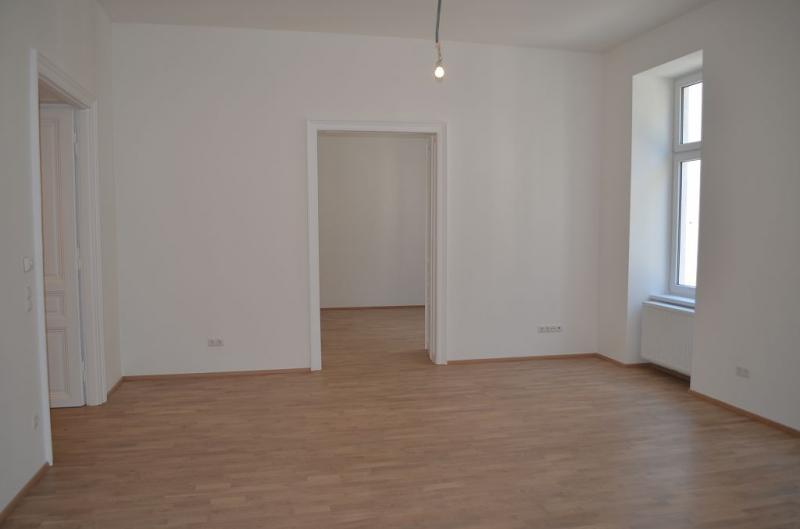 gbild -- ERSTBEZUG! REMBRANDTSTRASSE! Donaukanal-Nähe, 130 m2 Altbau, 3 Zimmer, 3er-WG-geeignet, Wohnküche, 2 Bäder, Parketten, Ruhelage /  / 1020Wien / Bild 3