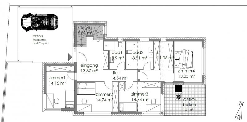 Architektenhaus in Grünruhelage mit Fernsicht - PROVISIONSFREI /  / 1140Wien / Bild 2