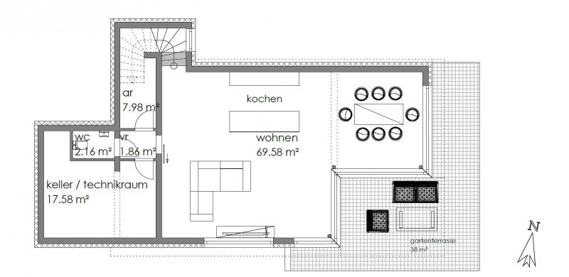 Architektenhaus in Grünruhelage mit Fernsicht - PROVISIONSFREI /  / 1140Wien / Bild 3