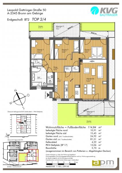 4-Zimmer-Gartenwohnung im Zentrum von Brunn am Gebirge /  / 2345Brunn am Gebirge / Bild 3