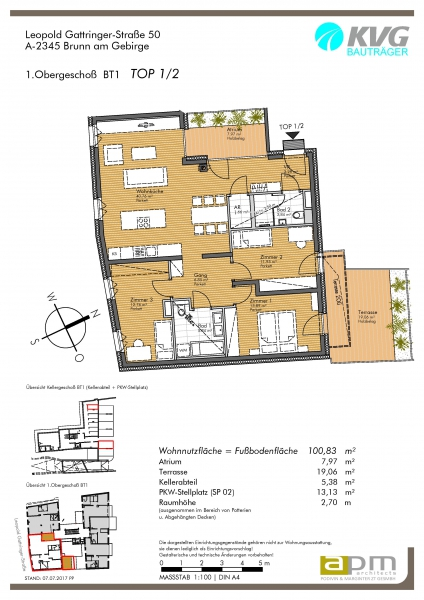 gbild -- 4-Zimmer-Terrassen-Wohnung in Brunn /  / 2345Brunn am Gebirge / Bild 3