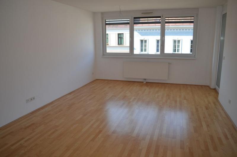 FUZO-FAVORITENSTRASSE! U1-KEPLERPLATZ;  SONNIGE 66 m2 NEUBAU MIT 5 m2 LOGGIA, 2 Zimmer, Kochnische, Wannenbad, Parketten; Ruhelage