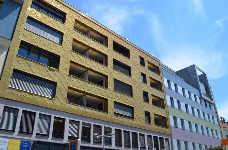 jpgcnt ---- FUZO-FAVORITENSTRASSE! U1-KEPLERPLATZ;  SONNIGE 66 m2 NEUBAU MIT 5 m2 LOGGIA, 2 Zimmer, Kochnische, Wannenbad, Parketten; Ruhelage /  / 1100Wien / Bild 1