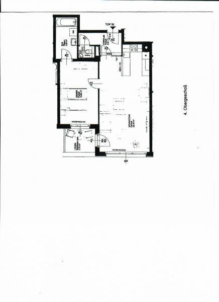 jpgcnt ---- FUZO-FAVORITENSTRASSE! U1-KEPLERPLATZ;  SONNIGE 66 m2 NEUBAU MIT 5 m2 LOGGIA, 2 Zimmer, Kochnische, Wannenbad, Parketten; Ruhelage /  / 1100Wien / Bild 2
