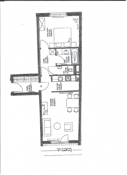 jpgcnt ---- HALBGASSE BEI BURGGASSE; TOPGEPFLEGTE 54 m2 NEUBAU MIT 5 m2 LOGGIA; 2 Zimmer, Kochnische, Wannenbad, Parketten;  /  / 0Wien / Bild 1