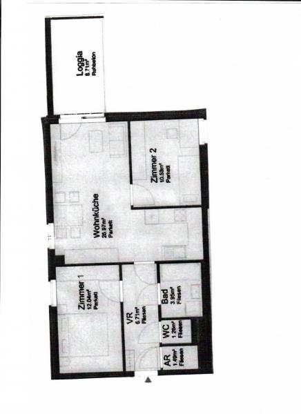 jpgcnt ---- ST. PÖLTEN! WIDERINSTRASSE, unbefristete 70 m2 Neubau mit 10 m2 Loggia, 3 Zimmer, Komplettküche, Wannenbad, Parketten /  / 3100Sankt Pölten / Bild 5