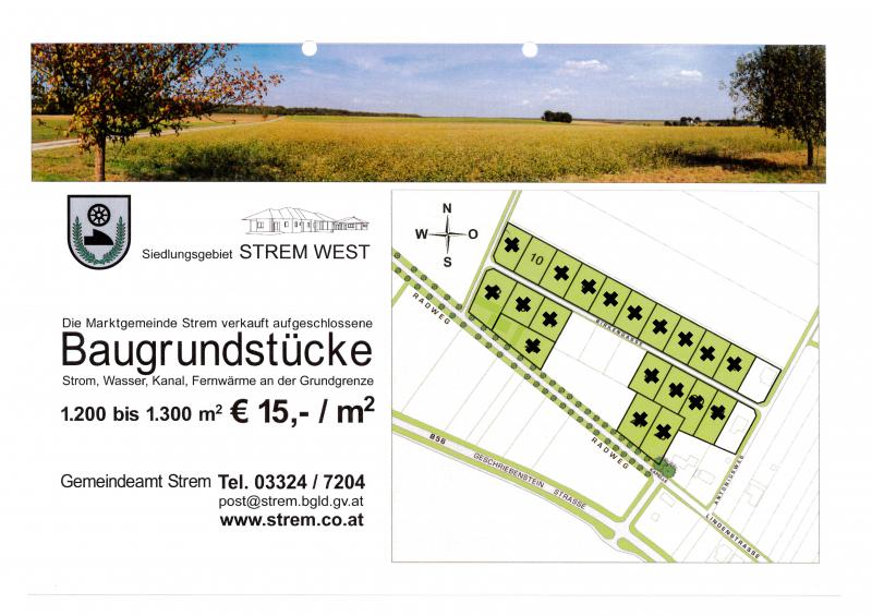 € 15 /m² - Baugrundstücke im Ortsteil Strem /  / 7522Strem / Bild 2