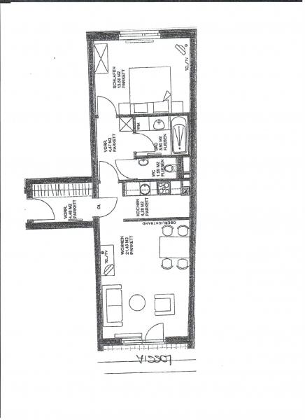 jpgcnt ---- HALBGASSE! TOPGEPFLEGTE 54 m2 NEUBAU MIT 5 m2 LOGGIA; 2 Zimmer, Kochnische, Wannenbad, Parketten;   /  / 1070Wien / Bild 9