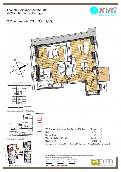 gbild -- Zwei-Zimmer-Dachgeschoß-Wohnung im Zentrum Brunns /  / 2345Brunn am Gebirge / Bild 2