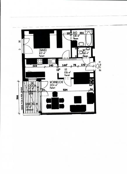 gbild -- LEYSTRASSE; topgepflegte 61 m2 Neubau mit 6 m2 Balkon, 2 Zimmer, Komplettküche; Wannenbad, Parketten; Garagenplatz möglich /  / 1020Wien / Bild 1