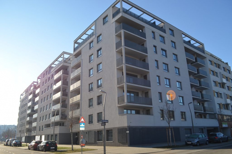 jpgcnt ---- LEYSTRASSE; topgepflegte 61 m2 Neubau mit 6 m2 Balkon, 2 Zimmer, Komplettküche; Wannenbad, Parketten; Garagenplatz möglich /  / 1020Wien / Bild 4