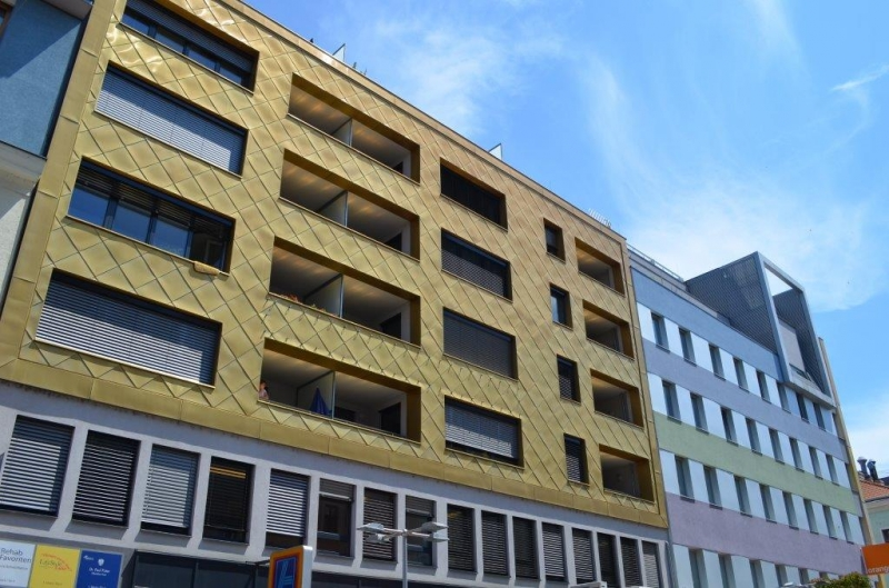 jpgcnt ---- FUZO FAVORITENSTRASSE!  SONNIGE 59 m2 NEUBAU MIT 5 m2 TERRASSE,2 Zimmer, Kochnische, Wannenbad, Parketten; Ruhelage; U1-Nähe;  /  / 1100Wien / Bild 4