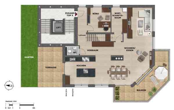 gbild -- Exklusive 5-Zimmer Maisonettewohnung MIETKAUF /  / 2371Hinterbrühl / Bild 4
