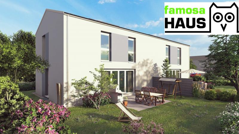 Ziegelmassive Doppelhaushälfte, vollunterkellert mit Gartenoase (Eigengrund) und 2 Parkplätzen. Provisionsfrei!