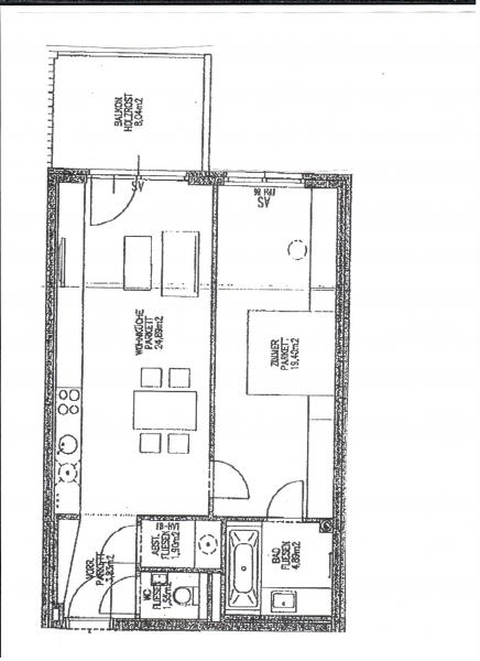 gbild -- SPEISINGER STRASSE; KUTSCHERHOF; TOPGEPFLEGTE 56 m2 NEUBAU MIT 8 m2 BALKON; 2 Zimmer, Kochnische, Wannenbad, Parketten; /  / 1130Wien / Bild 1