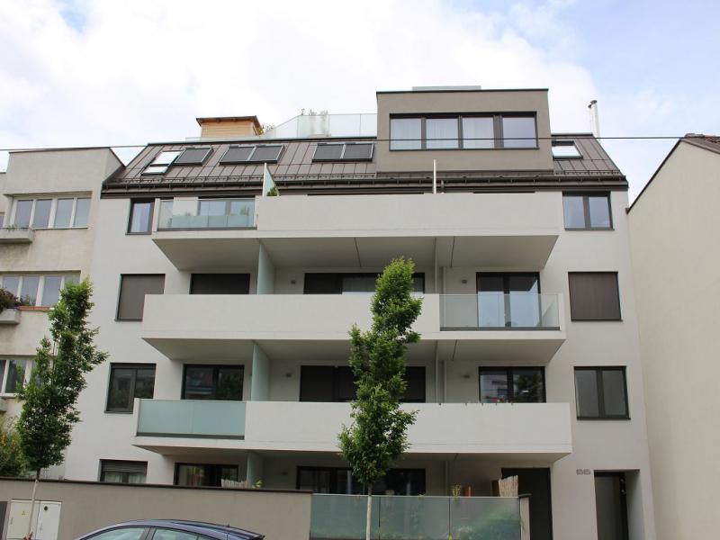 jpgcnt ---- SPEISINGER STRASSE; KUTSCHERHOF; TOPGEPFLEGTE 56 m2 NEUBAU MIT 8 m2 BALKON; 2 Zimmer, Kochnische, Wannenbad, Parketten; /  / 1130Wien / Bild 9